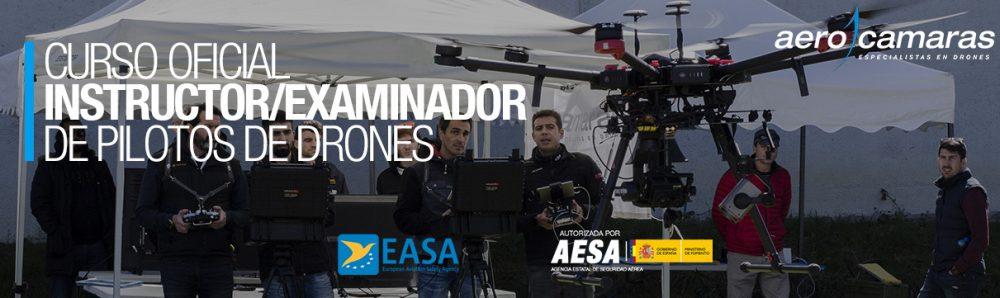 portada curso instructor examinador de pilotos de drones