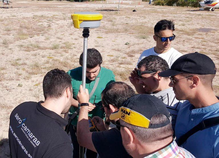 curso topografía con drones campo de vuelo sexta aerocamaras