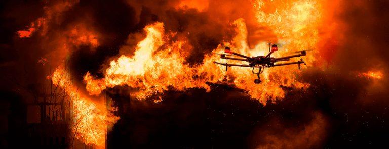 drones en incendios aerocamaras