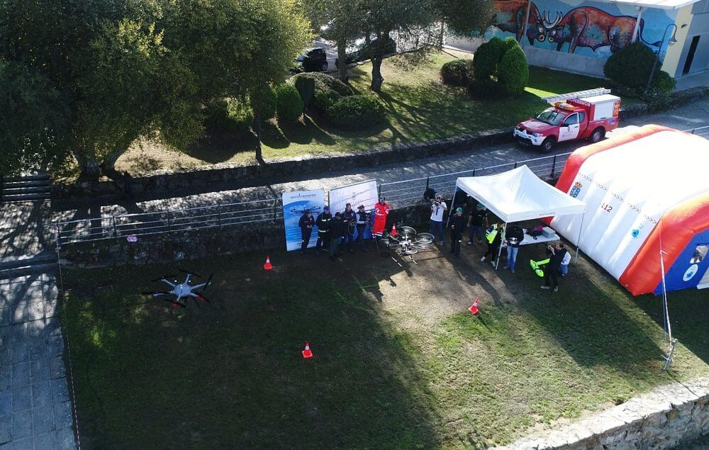 Prueba de vuelo curso de drones en emergencias