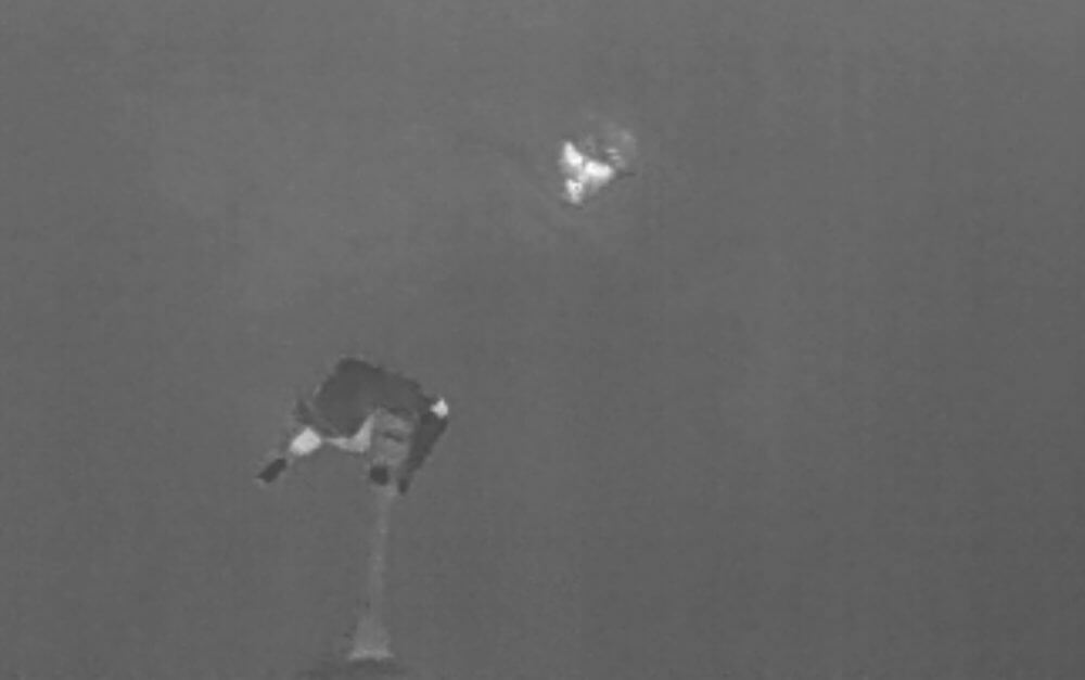 Visión de dron durante vuelo de emergencias