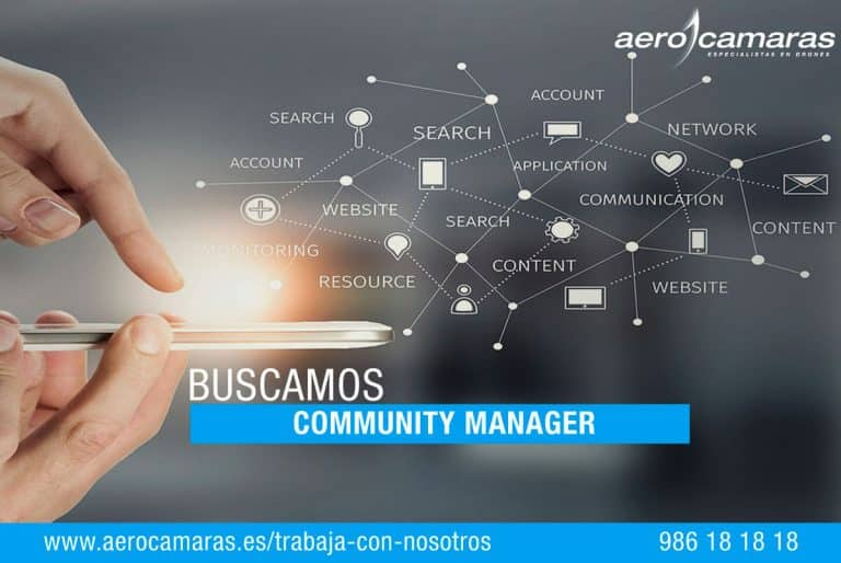 oferta trabajo community manager aerocamaras