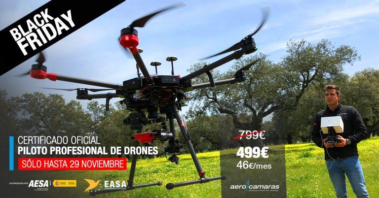 Aprovecha el Black Friday Curso de Drones de Aerocamaras
