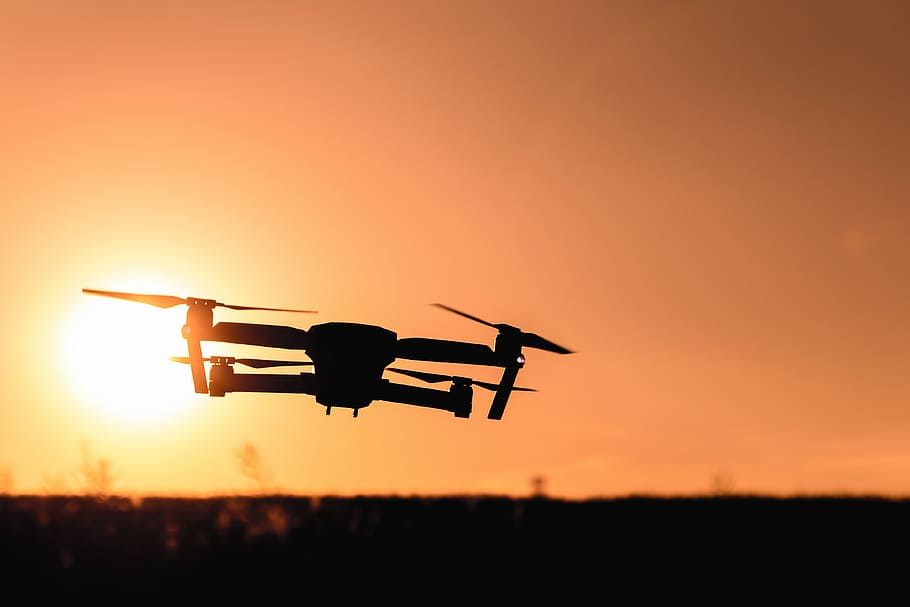 camera-drone-photography-sunset