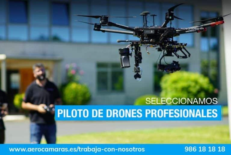 oferta de trabajo: piloto de drones profesionales