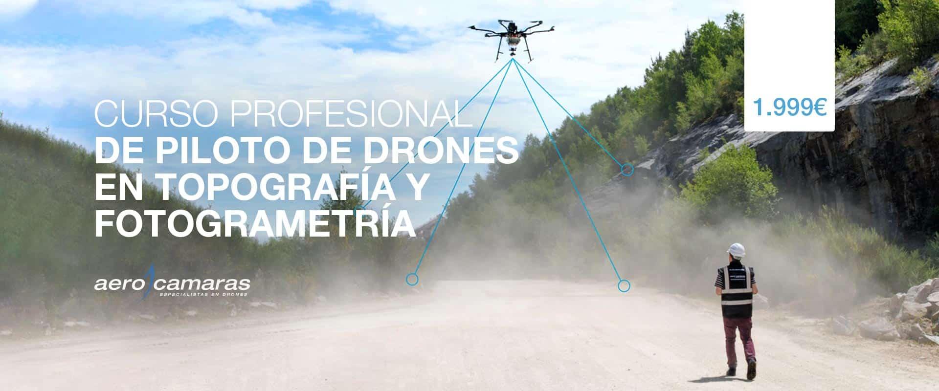 Curso de drones en topografía y fotogrametría