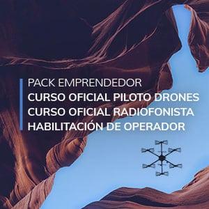 Curso de piloto de drones + curso de radiofonista + habilitación como operador