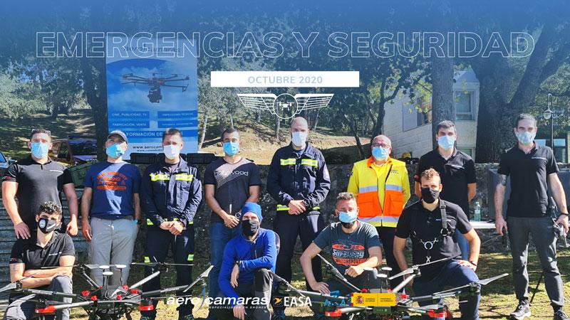 Curso de piloto de drones en emergencias y seguridad de aerocamaras octubre 2020