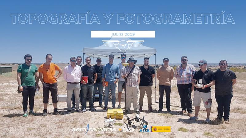 curso topografia y fotogrametria con drones aerocamaras 2019